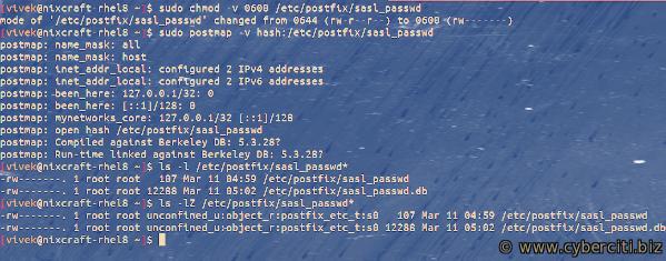Postfix RHEL CentOS 8 Amazon SES configuration