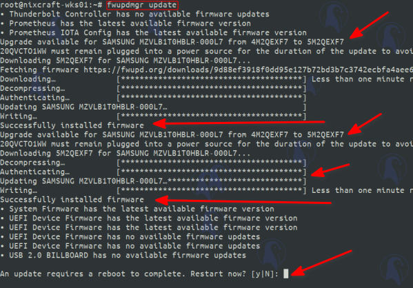 How To Update Samsung SSD Firmware on Linux