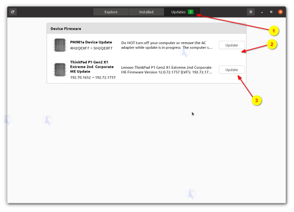 SSD Firmware updates Linux