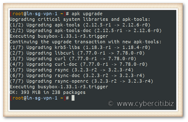 Aplicar actualizaciones de seguridad a Alpine Linux