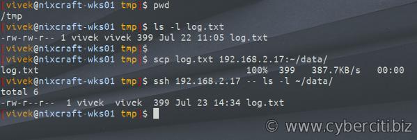 Cómo utilizar el comando SCP para transferir archivos de forma segura de forma remota en Linux