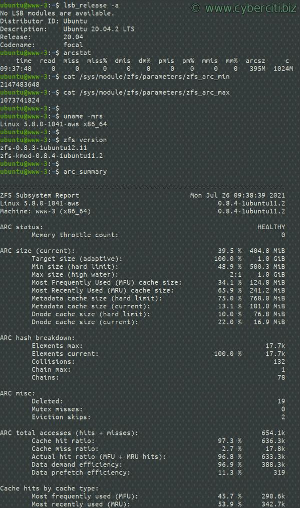 Cómo configurar el tamaño de ZFS ARC en Ubuntu o Debian Linux