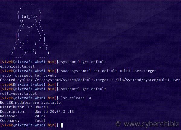 Cómo cambiar el destino de arranque en systemd Linux a texto o GUI