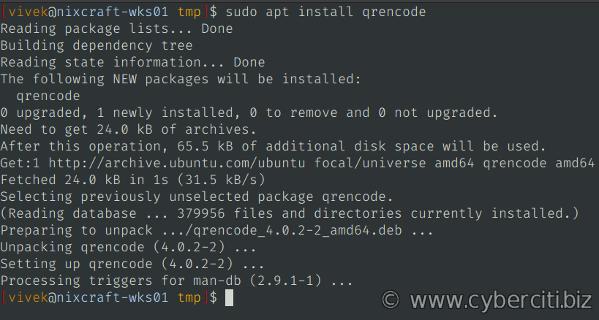 Genere códigos QR WireGuard para implementaciones móviles rápidas instalando el comando