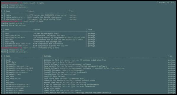Cómo enumerar todos los paquetes instalados en OpenSUSE o SUSE Linux con zypper