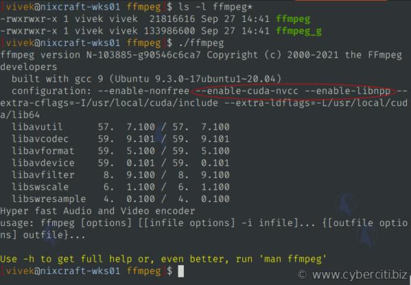 Cómo instalar FFmpeg con aceleración de GPU NVIDIA en Linux