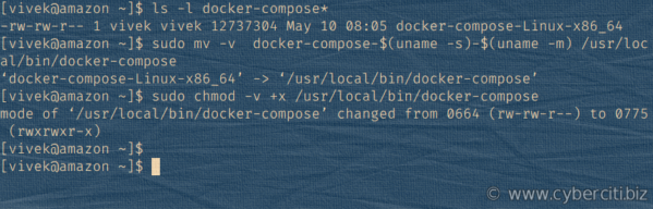 Instalar docker-compose en la AMI de Amazon Linux 2