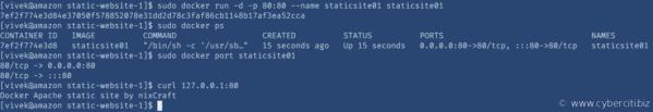 Prueba de Docker con Dockerfile en AMI