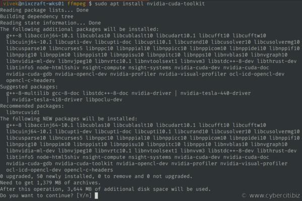 Uso de FFmpeg con NVIDIA GPU Hardware Acceleration mediante la instalación de CUDA