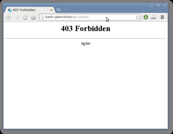 Nginx: Block URL Access (wp-admin/wp-login php) To All