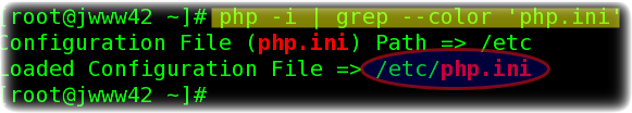 Fig.01: Finding php.ini path under Unix like operating systems