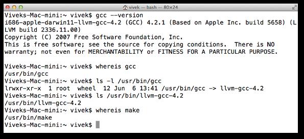 Mac OS X: Install GCC Compiler with Xcode - nixCraft