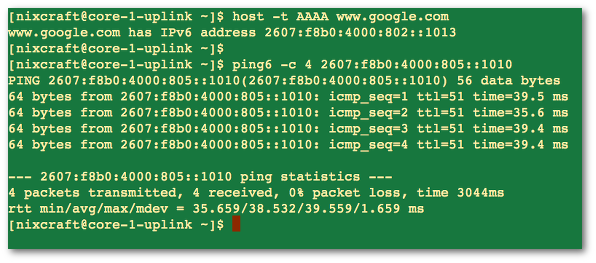 Ping IPv6 IP Address With ping6 Command - nixCraft