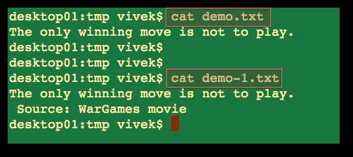 Unix Create a File Command - nixCraft