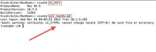 Fig 01: warning setlocale lc_ctype cannot change locale (utf-8)