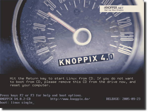 Fig.01 knoppix in action