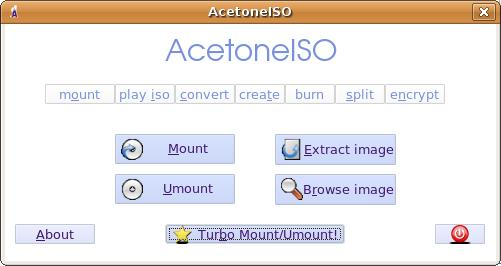 AcetoneISO - extract, browse ISO and other CD/DVD formats under Linux