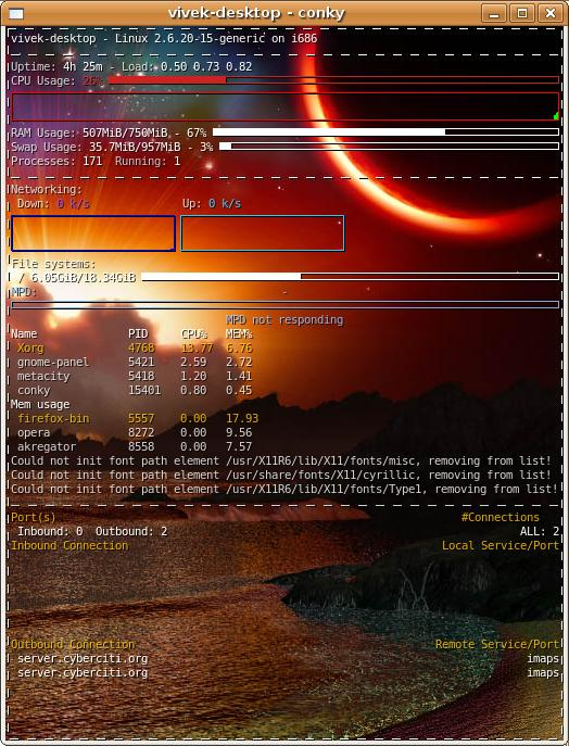 A system monitor for X originally based on the torsmo code