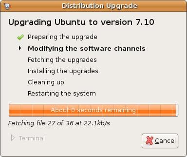 Upgrading Ubuntu Linux to 7.10
