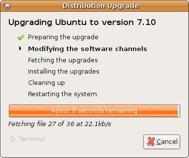 Upgrading Ubuntu Linux to 7.10