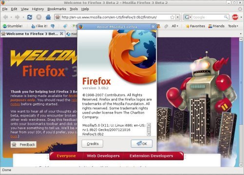 Firefox 3 beta 2 Screen shot - Firefox in Action!