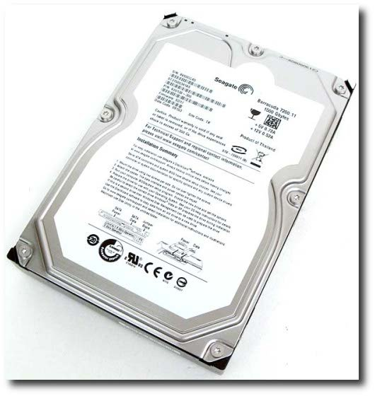 Fig.01: Seagate's Barracuda 7200.11 1.5TB hard drive