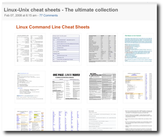 Top 10 Best Cheat Sheets and Tutorials for Linux / UNIX