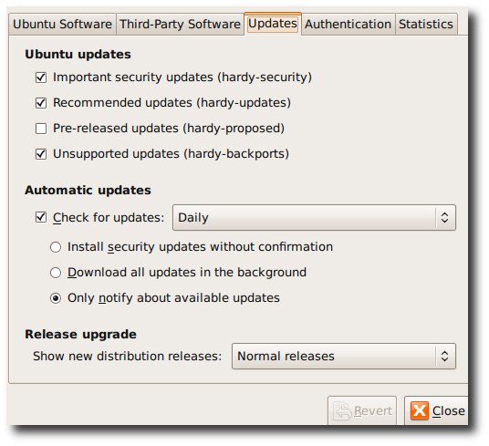 Fig.01: Ubuntu 8.10 Upgrade