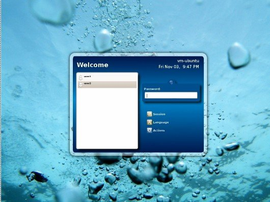Linux Relaxing Water Login Screen