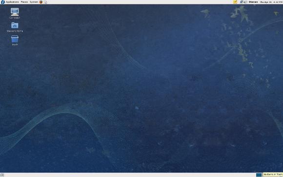 Fig.01: Fedora 11 with the new bird theme (screenshot)