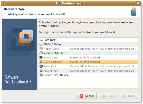 Vmware Linux Guest Add a New Hard Disk Without Rebooting