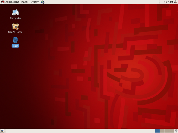 Fig.01 Red Hat Enterprise Linux 5 Desktop