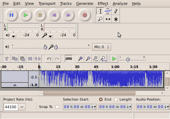 Fig.10: Audacity is used for audio / sound recorder & sound editor