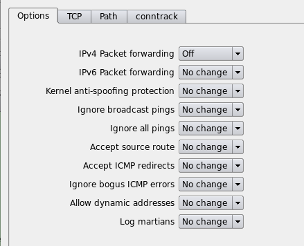 Figure 10. Turn off ip forwarding