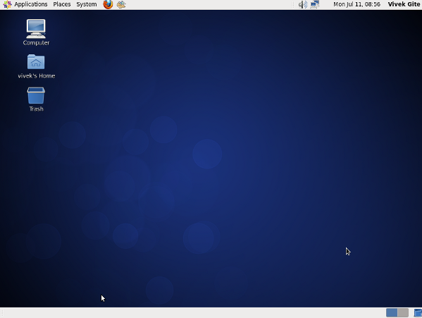 CentOS Linux 6.x Desktop Screenshot