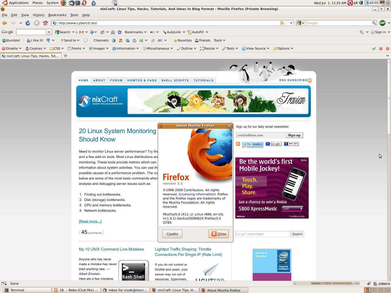 Download Of the Day: Firefox 3 5 For Windows, Linux, Mac OS X - nixCraft