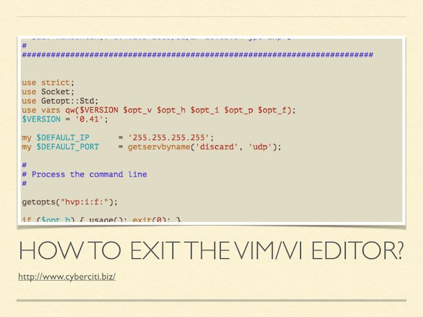 How to exit the VIM editor on Unix-like operating systems?