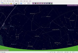 Simulation of the night sky using a graphical Linux desktop planetarium for KDE