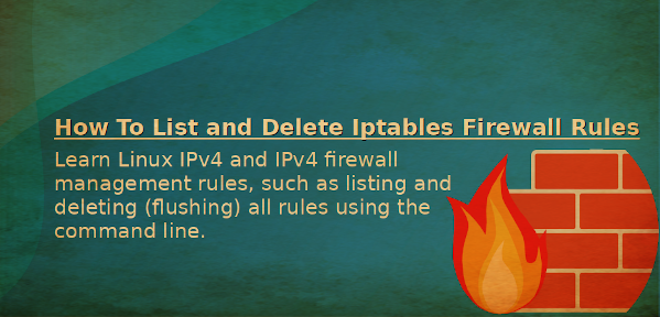 Linux flush or remove all iptables firewall rules