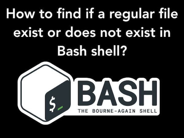 Find Out If File Exists With Conditional Expressions in a Bash Shell