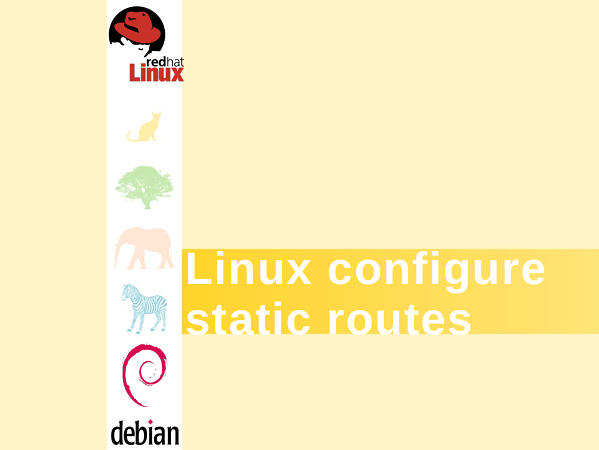 How to configure static routes In a Debian or Red Hat Enterprise Linux