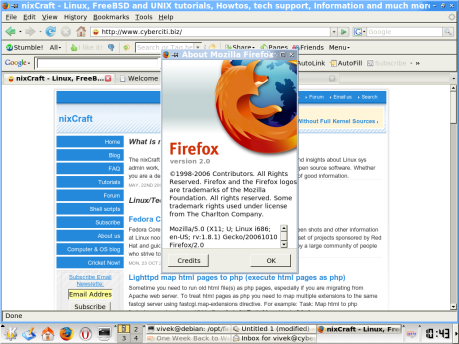 Firefox 2.0 – First impression
