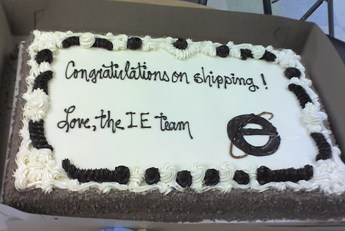 From Redmond with love –  IE Team sends a cake