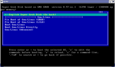 Super Grub Disk to fix Windows and Linux boot problems