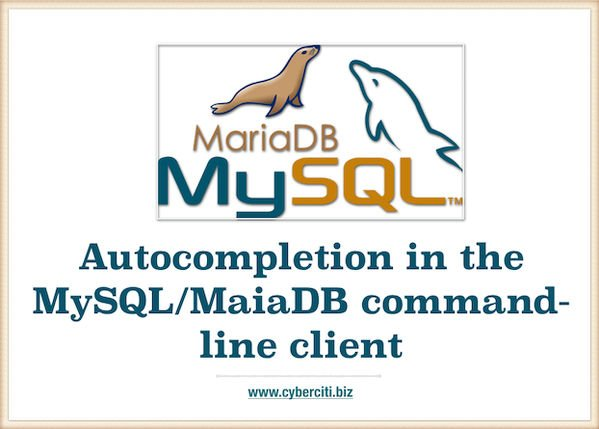 Autocompletion in the MySQL command-line client