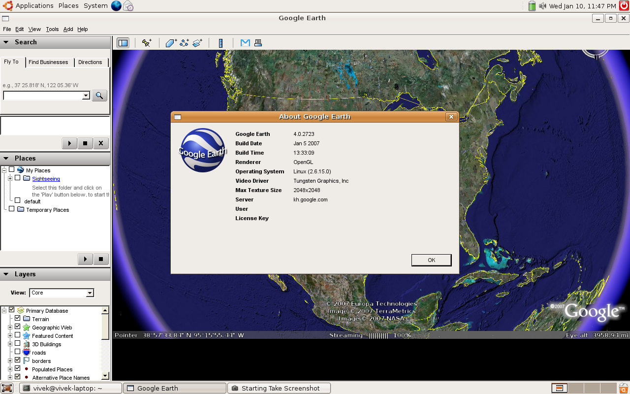 Download of the day: Google Earth Linux 4 0 - nixCraft