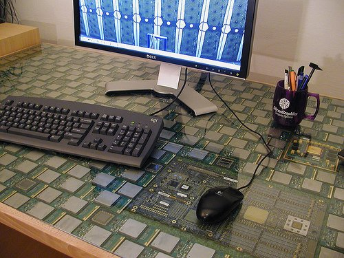 CPU DESK - Made From Several Hundred Old CPUs