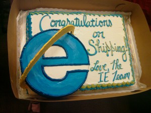 From Redmond With Love – IE Team Sends A Cake TO Mozilla