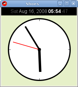 Fig. 02: Animated clock