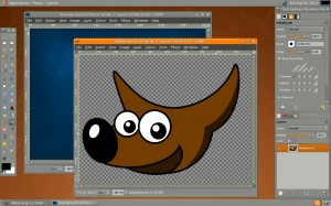 Fig.01: GIMP 2.6 running on Linux (credit GIMP project)